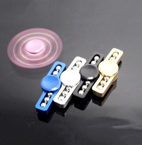 fidget hand spinner aluminio metalico anti-estres rainbow