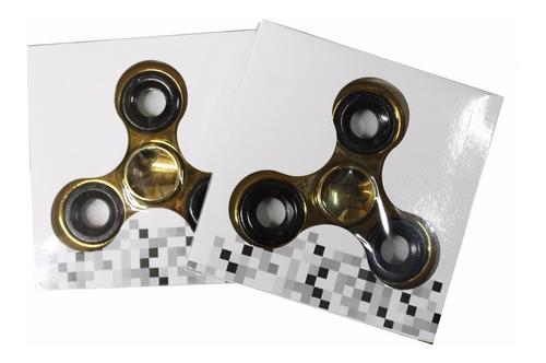 fidget hand spinner anti estresse rolamento dourado