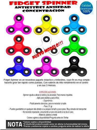 fidget hand spinner antiestres ansiedad spinners colores