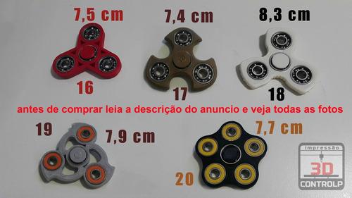 fidget hand spinner - corpo em até 3 cores - exclusivo