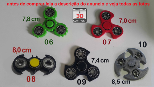 fidget hand spinner - customizados feitos em impressora 3d