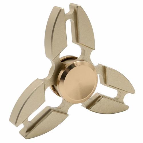 fidget hand spinner de metal ansiedad dorado j1099
