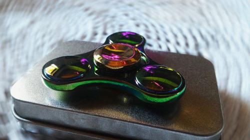 fidget hand spinner de metal - resistente e de qualidade!