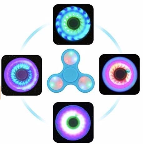 fidget hand spinner led antiestres concentración envio grati