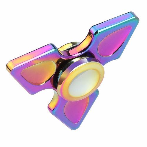 fidget hand spinner metalico anti-estres rainbow