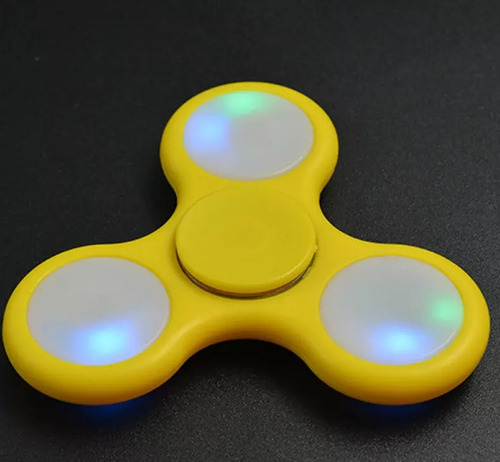 fidget spiner spinner anti estres juguete calidad con luces