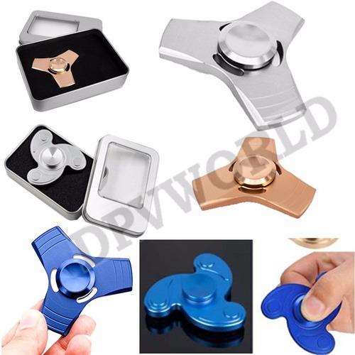 fidget spinner aluminio juguete antiestres caja metalica