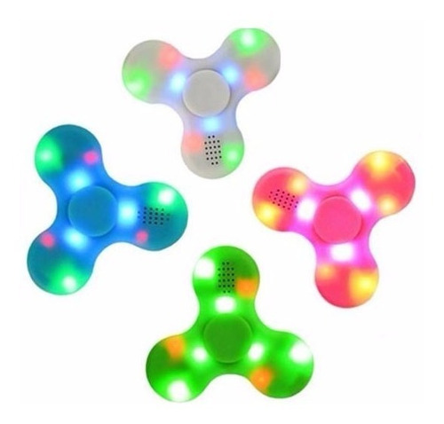 fidget spinner bluetooth luces led android-ios - t855