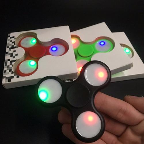 fidget spinner con luces led juguete antiestres luz nuevo