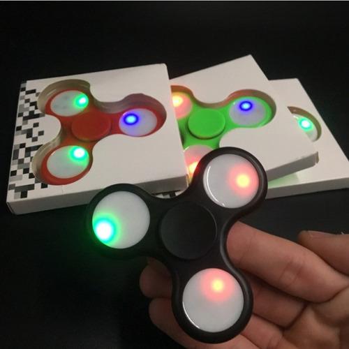 fidget spinner estres/ansiedad cromo 9 luces nuevo modelo