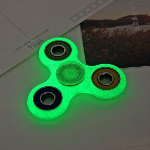 fidget spinner fosforescente verde glow in dark gira mas