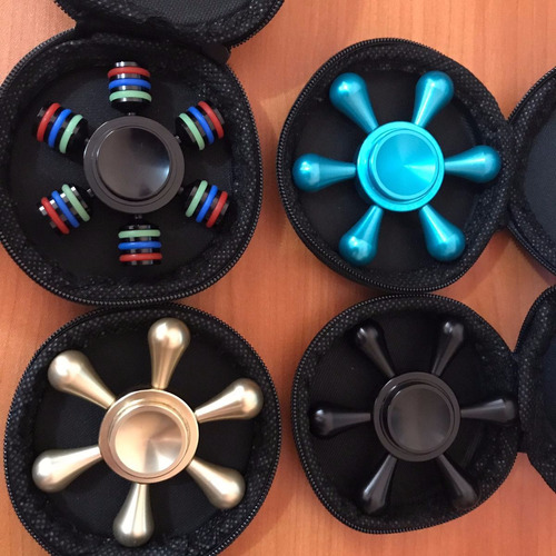 fidget spinner hexagonal de auminio  varios estilos