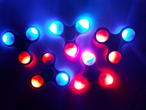fidget spinner led original colores nuevos luces anti-estres