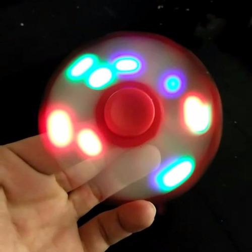 fidget spinner  led roda luz finger toy