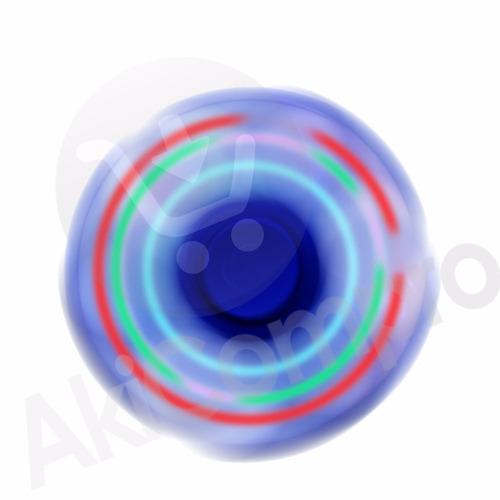fidget spinner luces led anti estress ansiedad mayor y detal