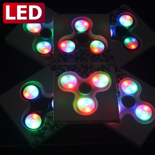 fidget spinner luces led reduce estres ansiedad somos tienda