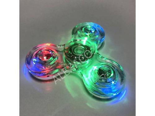 fidget spinner luces led transparente control de luz