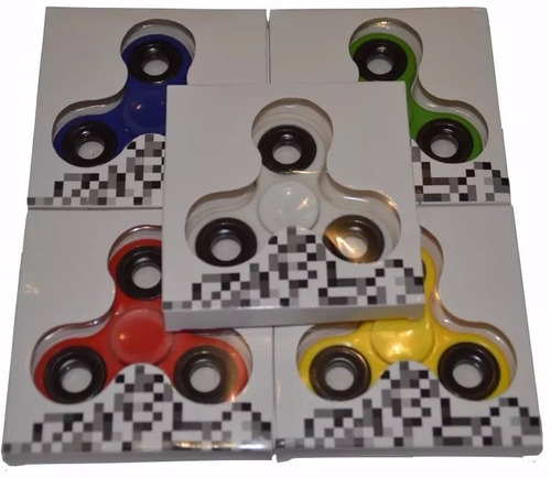 fidget spinner metal original importado anti stress x 5 uni