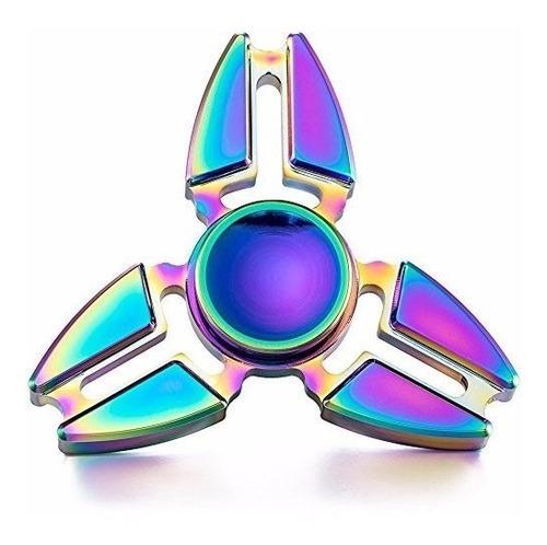fidget spinner original metal estrella tornasol 7cm 4min