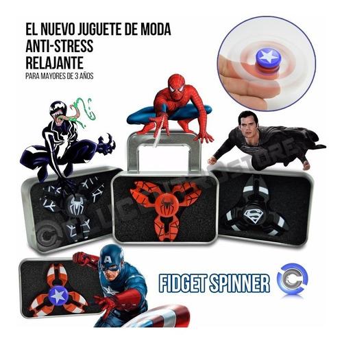 fidget spinner súper héroes y luces de lujo paquete x6