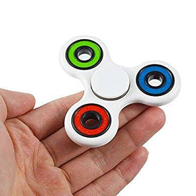 fidget spinner tri color.  en cajita original