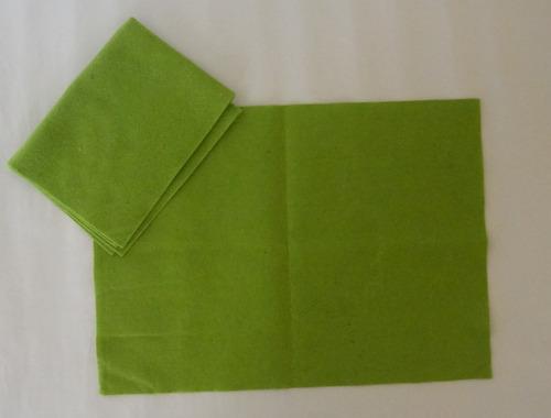 fieltro escolar verde manzana  42 x 30,5 cms