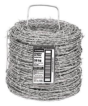 fiero alpu12-30 alambre de púas calibre 12.5 rollo de 30 kg.