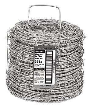 fiero alpu12-34 alambre de púas calibre 12.5 rollo de 34 kg.
