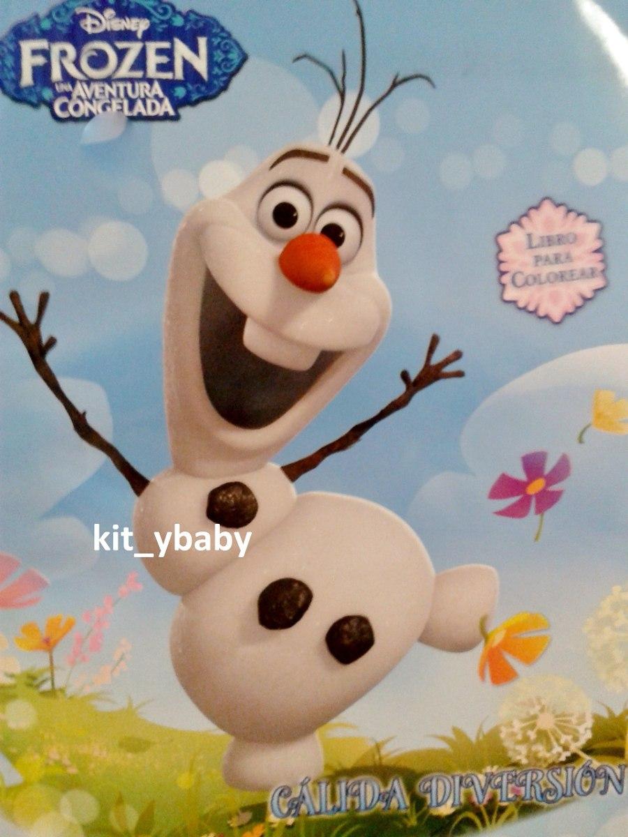 Fiesta De Frozen Libro Para Colorear De 80 Págs Olaf