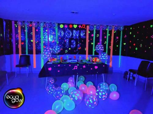 fiesta glow neon accesorios, dj iluminacion kits