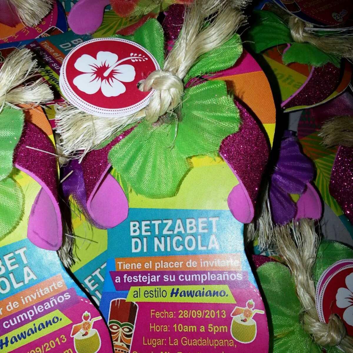 Fiesta Hawaiana Tarjeta De Invitación Personalizada