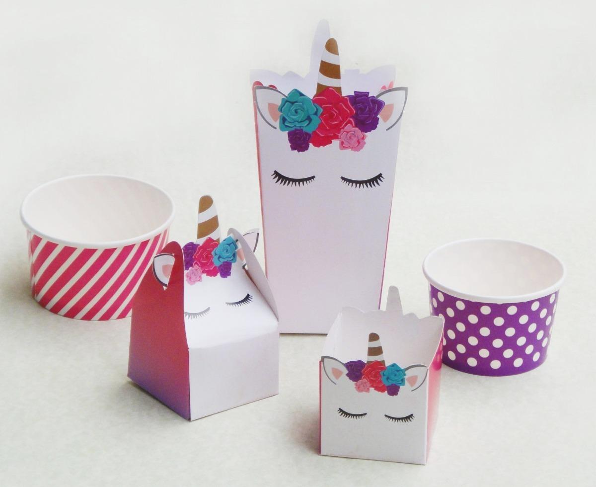 Unicornio fiesta lonchera caja dulcero infantil palomitas for Diseno de mesa de unicornio