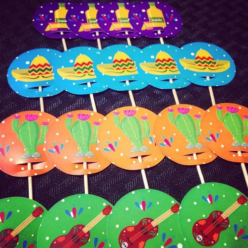 fiesta mexicana party box candy bar kits impresos 12 inv