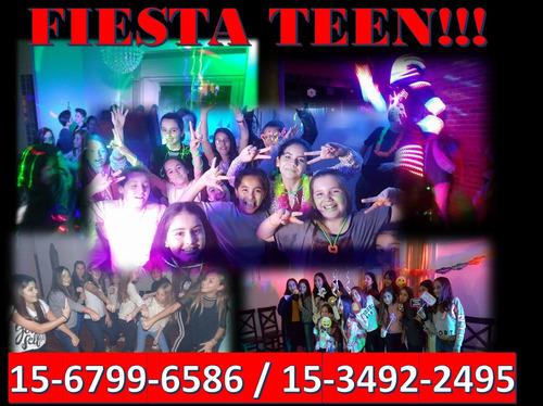 fiesta teen, mini disco, animacion, dj,  fiesta de espuma!!!