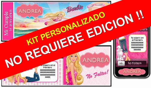 fiesta temática 100% personalizado de barbie