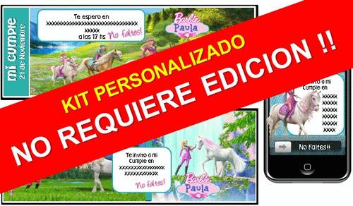 fiesta temática barbie una historia de ponis personalizado