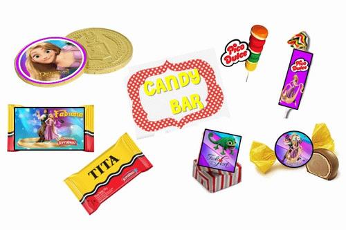 fiesta temática rapunzel 100% personalizado cartoon