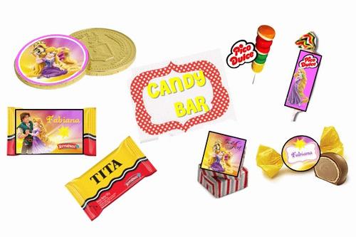 fiesta temática rapunzel enredados personalizado 100% niño