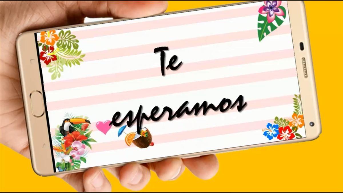 Fiesta Tropical Video Tarjeta Invitación Cumpleaños Whatsapp