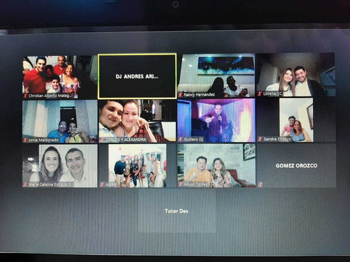 fiesta virtuales asambleas virtuales alquiler luces y sonido