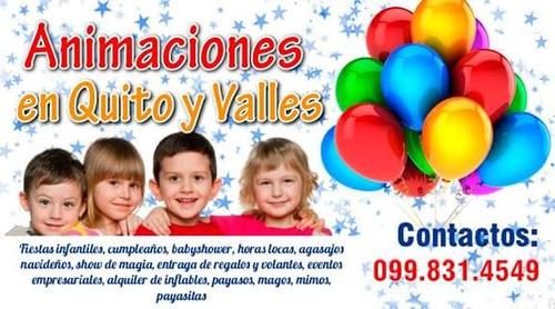fiestas cumpleaño infantiles payasito payasita mago inflable