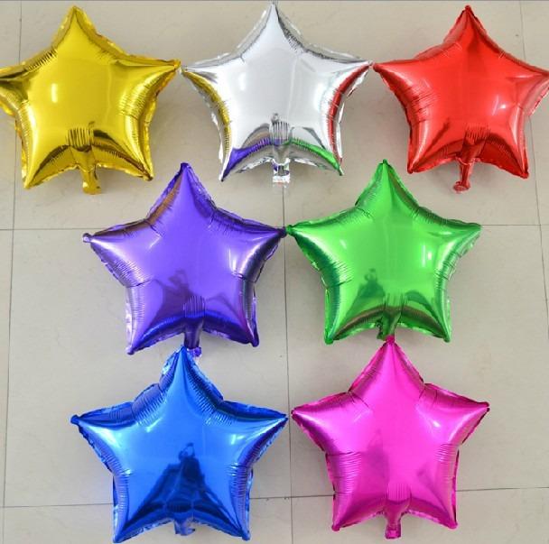 50 globo estrella metalico 50cms 19 pulg fiestas for Donde comprar globos