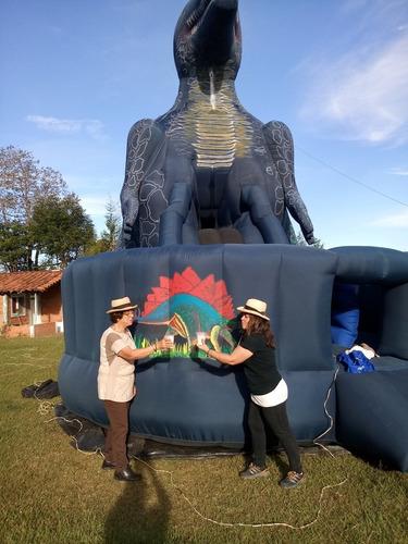 fiestas, eventos, vendo inflable dinosaurio a escala real