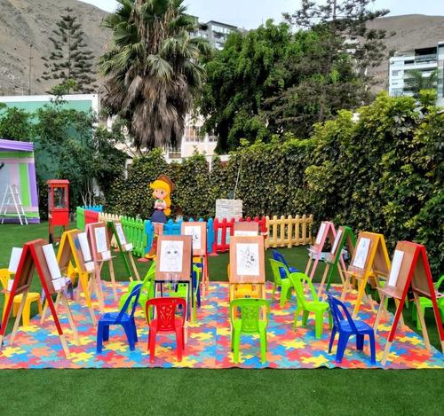 fiestas infantiles decoración juegos inflables snack feria