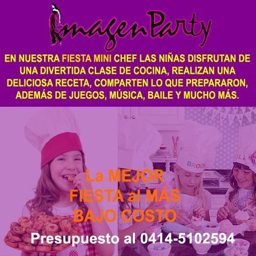 fiestas spa y mini cheff para niñas