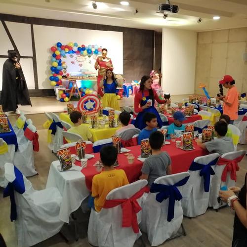 fiestas y cumpleaños infantiles a domicilio y locales.