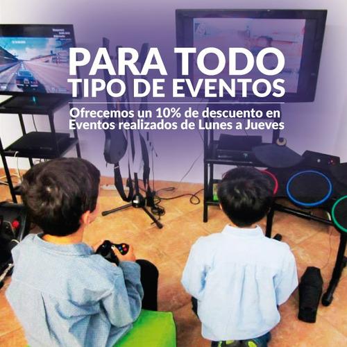 fiestas y eventos alquiler consolas vídeo juegos ps xbox wii
