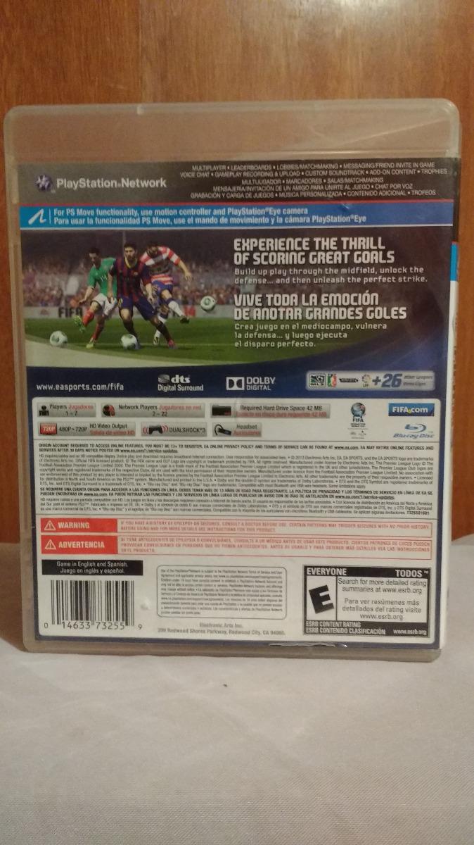 fifa 14 con manual ps3 playstation 3 espa ol latino od st rh articulo mercadolibre com mx How Made PlayStation 3 Manual manual usuario playstation 3 español