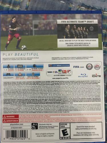 fifa 16, play satation 4 impecable!