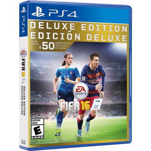 fifa 16 ps4 deluxe edition fisico. juego fifa 16 deluxe